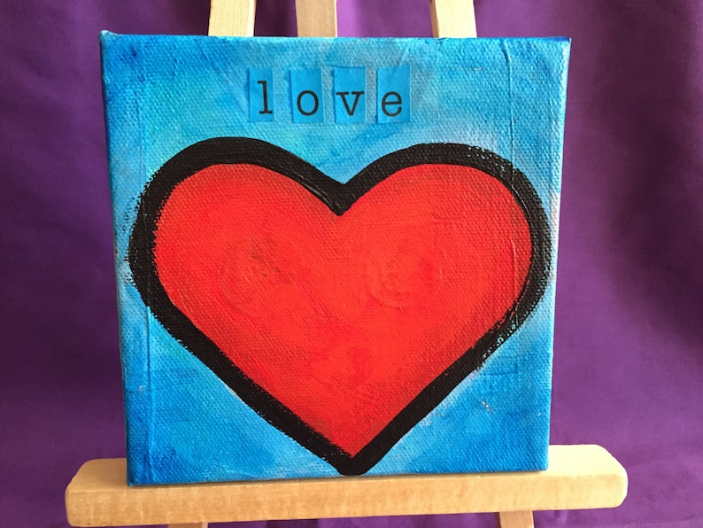 Love Painting 5x5 Canvas image 0