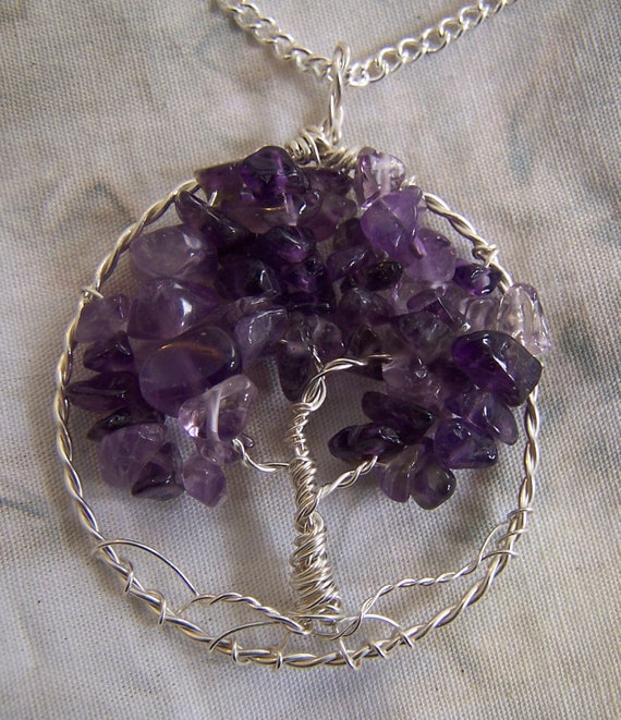 Items Similar To Amethyst Tree Of Life Necklace Pendant