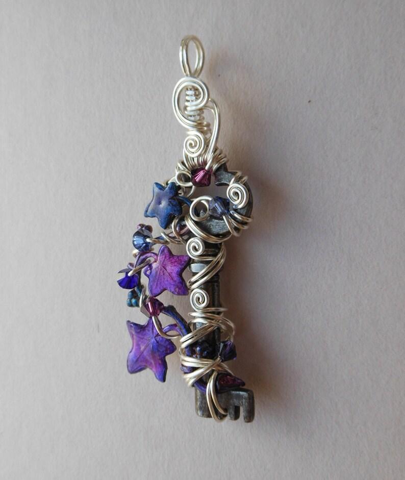 9f0b759d5 Purple Ivy Vine Key Pendant Faery Enchanted Vine Small | Etsy