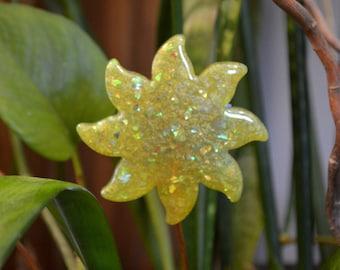 Sparkly Plant Stake ~ Sun Catcher ~ Your Choice ~ Small Sun Decor ~ Sparkling Resin Art ~ Boho Plant Decor ~ Boho Style