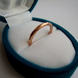 Simple Rough Band In Solid 18k Rose Gold Mark Of The Maker Etsy