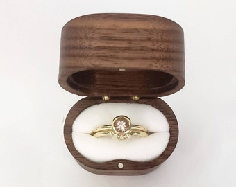Morganite bezel set engagement ring with matching diamond wedding band in 10k-14k-18k yellow gold, white gold, rose gold