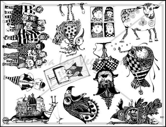 Art stamp plate  Steampunk Rubber Stamp  tateam EUC team   1417  circus New York City Stamps