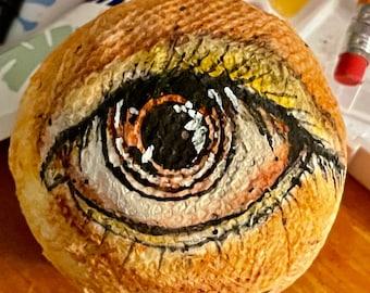 Handmade paper mâché eye eyeball round ball flat back  Halloween decoration    creepy