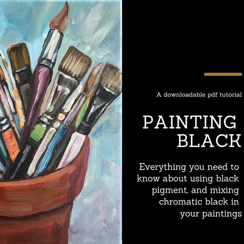 ART LESSON: Painting Black the complete guide to mixing black image 0