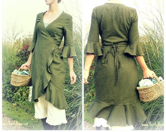 Verity Hope / Wrap Dress sewing pattern / digital instant download  / small // medium // large // x large