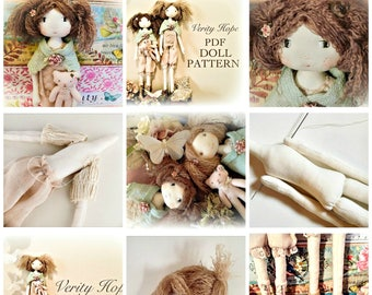 Verity Hope / cloth doll sewing pattern / digital / instant downloadable / doll pattern / PERMISSION TO SELL