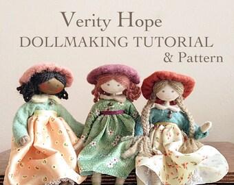 PDF doll pattern | doll pattern | Vintage Dollmaking | Easy Doll Pattern | Verity Hope Doll Pattern | Verity Hope | Doll Pattern
