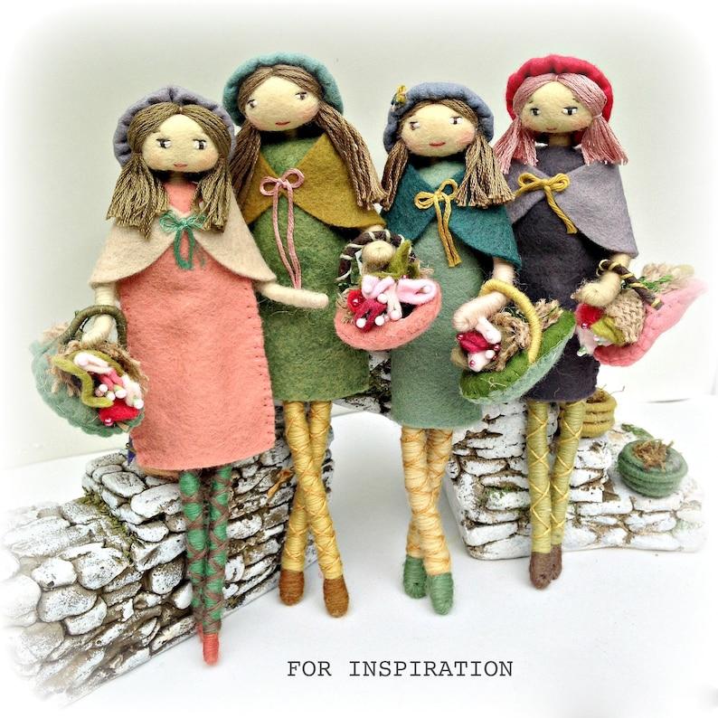 Doll Making Supplies Kit Felt Doll Kit Bendy Doll Doll Kit Verity Hope Felt Bendy Doll 4