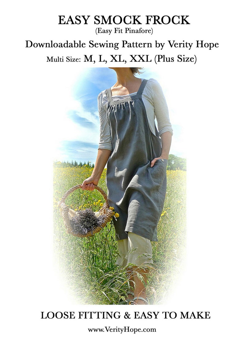 VERITY HOPE / Easy to sew / Easy Fit Pinafore / digital image 0