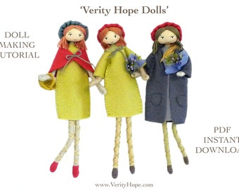 French style doll with beret / digital pattern tutorial