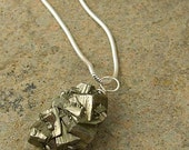 RESERVED for wewa1972.  alchemy. pyrite druzy nugget pendant