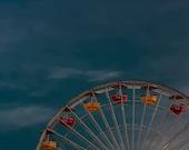Ferris wheel blue sky Matte Print