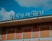 La Vie en Rose Restaurant St Maarten Matte Print