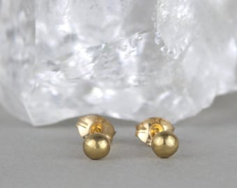 ef80b6a24 Tiny Gold Stud Earrings. Small Dot Earrings. Minimalist Gift For Her.