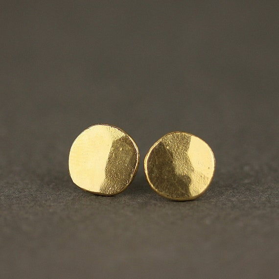 Large Hammered Coin Earrings