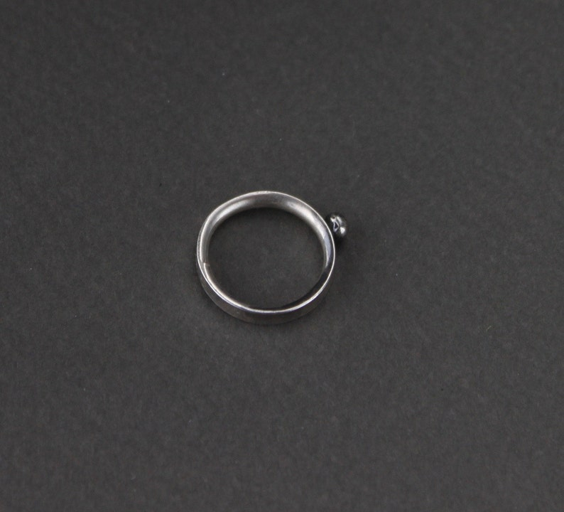 Bohemian Jewelry Delicate Jewellery Sterling Silver Midi Ring Little Finger Stud Mid Finger Ring Simple Jewellery Above Knuckle Ring