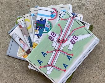 Slim Wallet- Airplane Safety Manual- Choose 1