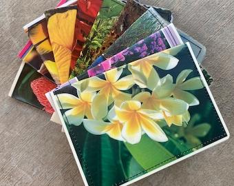 Slim Wallet- Vintage Flowers of Hawaii Postcard- Choose 1
