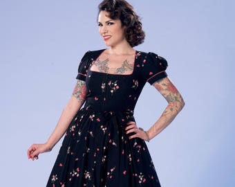 Sewing Pattern-Butterick 6352-Pin up Girl Dress,Gothic Lolita Dres,Rockabilly 50's dress Plus Size 14-22