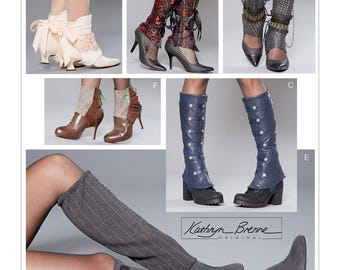 McCall's Pattern 7706-Multi Length Spats for Steampunk, Gothic, Lolita Shoe and Boot Covers