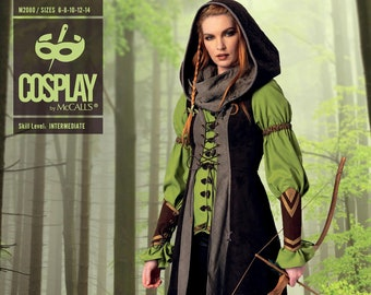 McCall's Cosplay 2080 Sentinel-Ranger Archer Elf Costume,Game of Thrones, Lord of the Rings  Size 6-14