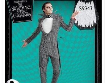 Simplicity Sewing Pattern 9343 Jack Skellington Nightmare Before Xmas  Costume Size 34-42