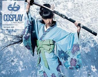 Cosplay McCall's 2081 Obi:Gado Kimono Manga Anime Pattern Size 8-16