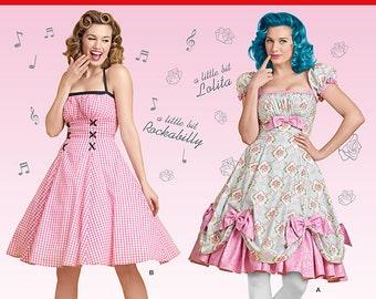 Simplicity 8127-Pin up Girl Dress, Rockablilly Style Dress,Lolita -Plus Size 16-24