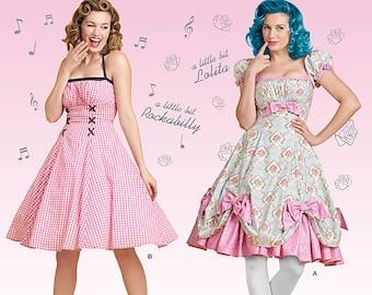 Simplicity Pattern 8127-Pin up Girl Dress, Rockablilly Style Dress,Lolita -Size 8-16