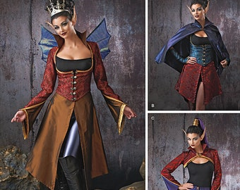 Simplicity Pattern 1138 -Dark Gothic Fairy Elf Costume Including Wings size 6-12 Out of Print-Last One