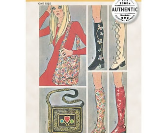 Simplicity Pattern 9553 Spats for Steampunk, Gothic, Super Hero Boot Covers Vintage Pattern Reissued One size