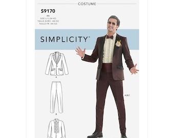 Simplicity Pattern 9170-Tuxedo Bettlejuice Costume Size 34-42