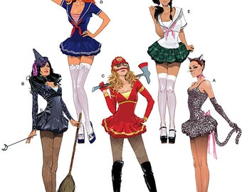 Sewing Pattern-Simplicity 2072-Sexy Witch,Sailor,Cat,Firefighter Costume-Plus Size Out of Print Stained Envelope