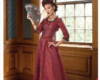 Simplicity 9247 Pattern Steampunk Misses' Bolero, Corset, Skirt Size 6-14