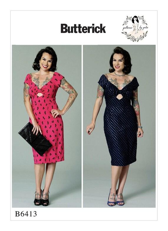 Butterick Pattern 6413 Pin Up Girl Dressmisses Etsy