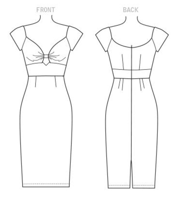 butterick pattern 6413 pin up girl dressmisses etsy Petticoat Legs image