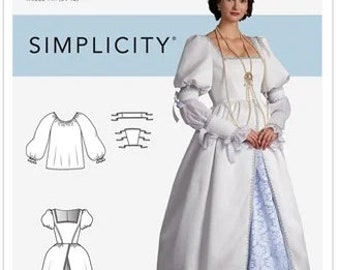 Simplicity  Pattern 9090-Lord of the Rings, Ren Faire Costume Dress-Lady of the Castle- Size 6-14