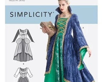 Simplicity Pattern 9166 Witch Sanderson Sisters Fancy Dress- Size 6-14