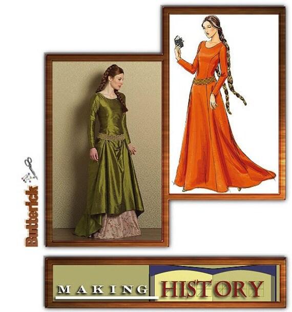 Medieval Dress, Renassiance Dress Pattern, Butterick 4827, Plus Size 14-20