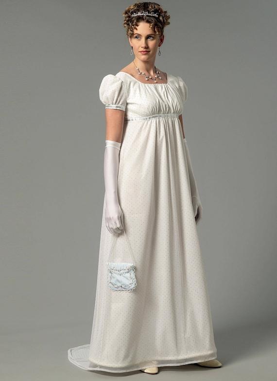 Sewing Pattern Butterick 6074-Regency Gown/Dress-Pride n