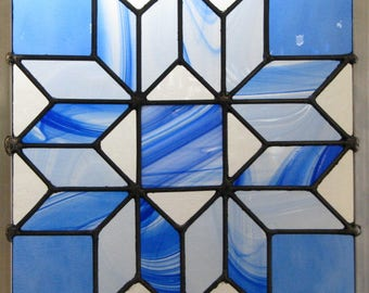 Quilt Block Stained Glass Pattern
