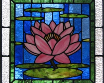 Lotus Stained Glass Window Pattern