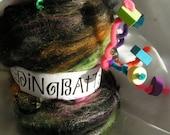 DiNgBaTtS Art Fiber Fun Batt Club Approx 2 ounces per month for 12 months Kooky Wacky Crazy Wild Everything
