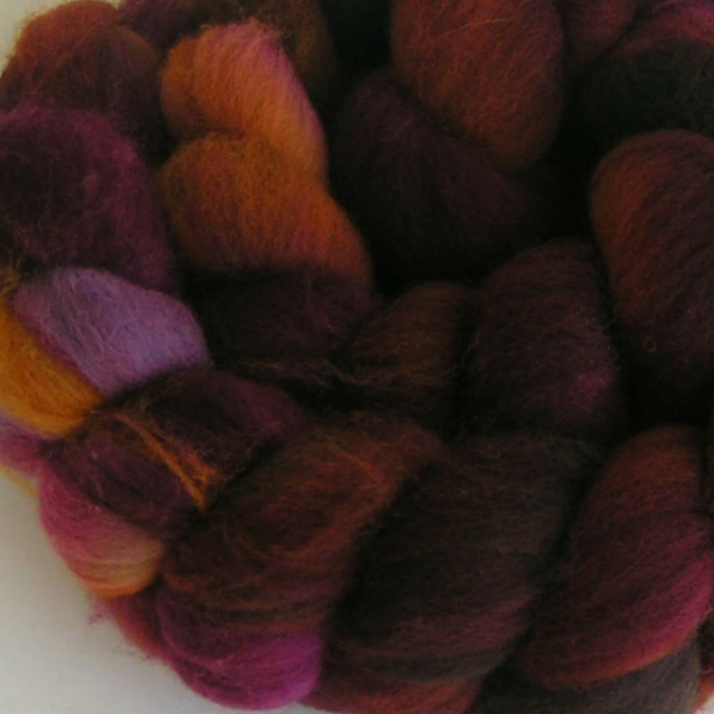White Color Natural Falkland Wool Roving for Spinning Felting Crafts 4OZ A