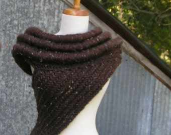 KAT COWL with RINGS Inspired Vest Scarf Handknit Soft Archers Armor Huntress Cross Body Hunting Costume Neckwear cosplay Halloween