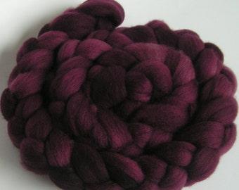 BEAUJOLAIS Merino Fine Top Roving Wine Spin Felt Craft 4 ounces handspinning felting wool soft