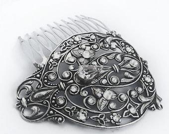 Bridal Hair Comb Vintage Swarovski crystal Wedding Filigree Hair accessory Hair Jewelry Formal Party Wedding jewelry womens