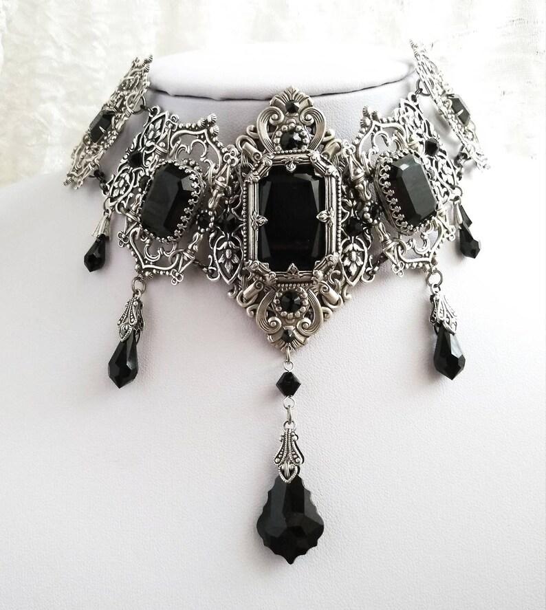 Victorian Choker Gothic Necklace victorian jewelry Victorian  de44e0425
