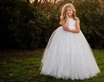 92b7ce40c4 Lace Flower Girl Dress